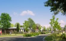 Perspective de la résidence Le Parc Verdii, appartements et maisons à Cormelles le Royal