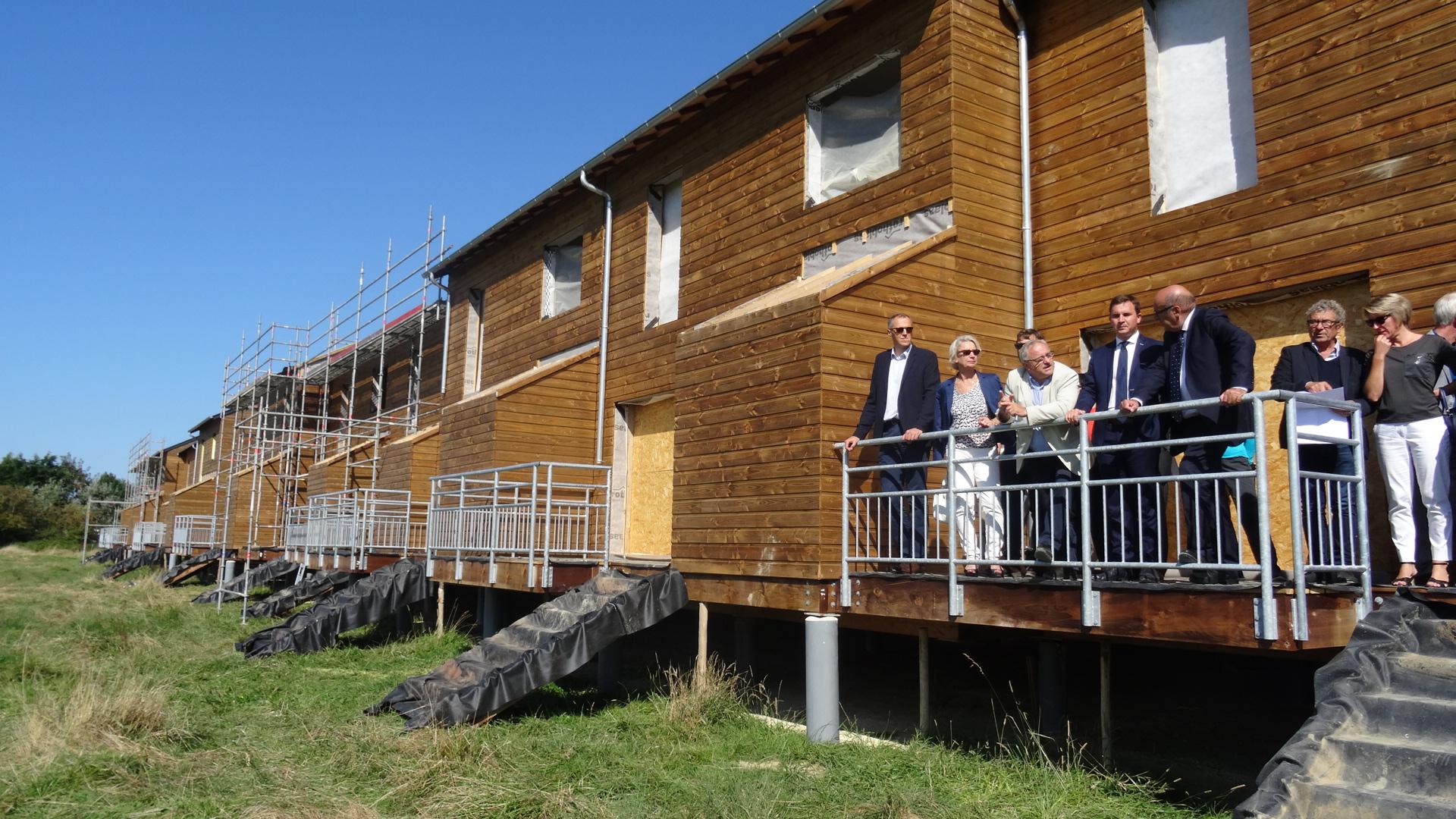 Visite de chantier d 39 un co hameau de 24 maisons - Chambre d hotes ouistreham riva bella ...